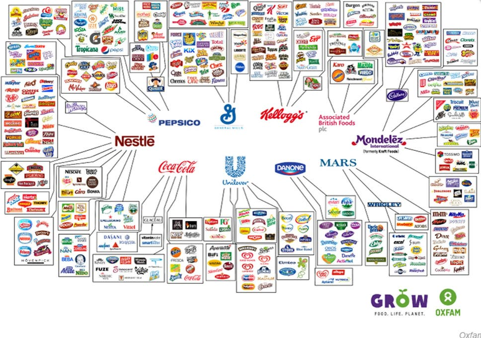 these 10 companies control everything you buy the independent