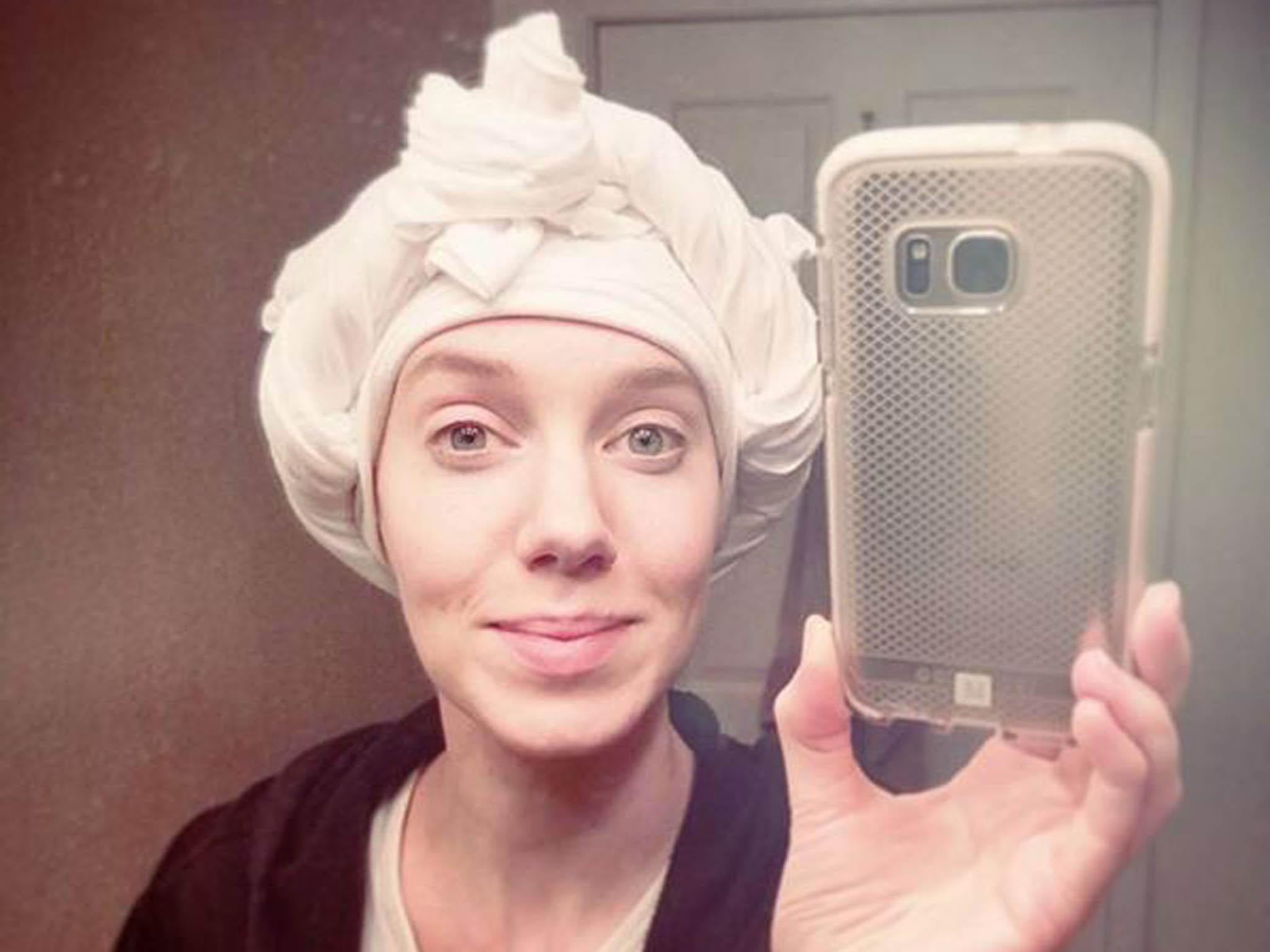 How to dry your hair without heat damage: Plop it (yes, really)