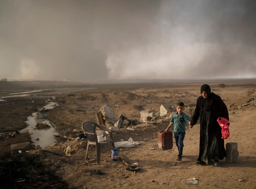 More than 45,000 people have been displaced by the Mosul offensive so far, with aid agencies warning the figure could rise to 700,000