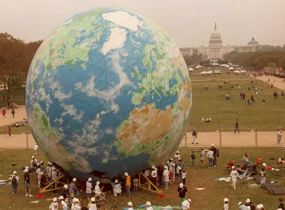 Earth Day was celebrated for the first time in 1970