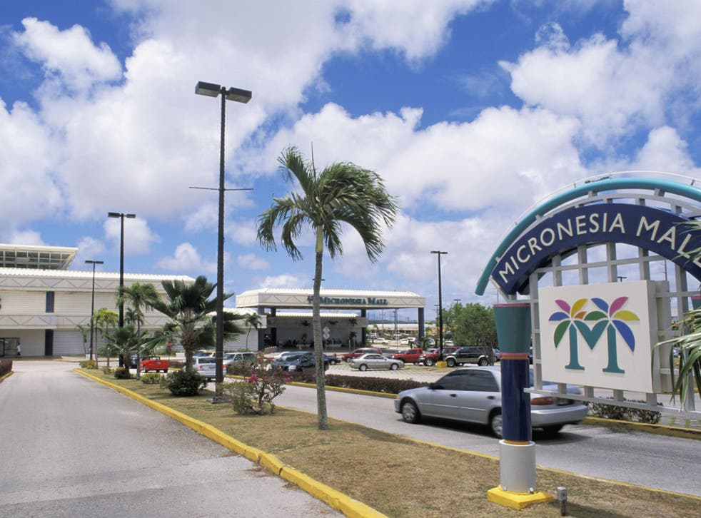 A shopping mall in the US island territory of Guam
