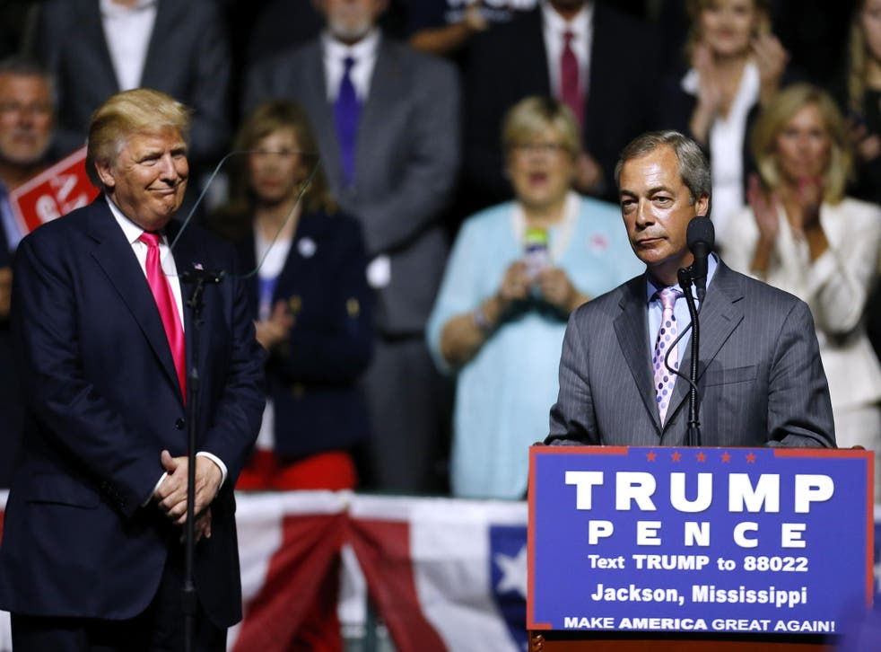 Nigel Farage did not explicitly endorse Donald Trump but now admits he hopes the President-elect will give him a job