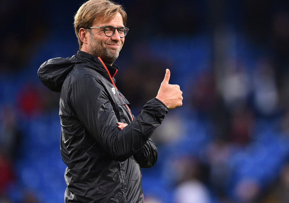 Image result for klopp liverpool thumbs up