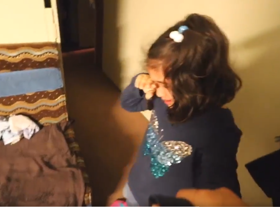 Five-year-old Reema is upset by Donald Trump victory