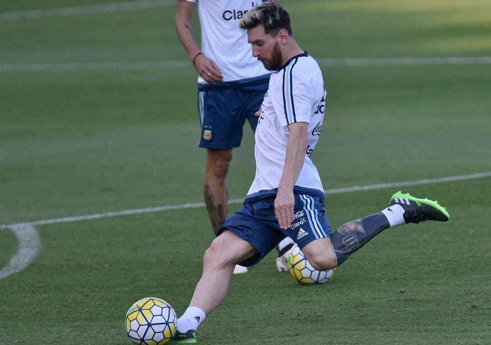 Lionel Messi Shows Off Weird New Tattoo During Argentina