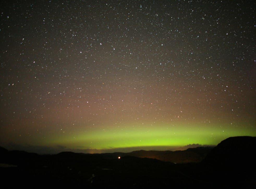 The aurora over Scotland