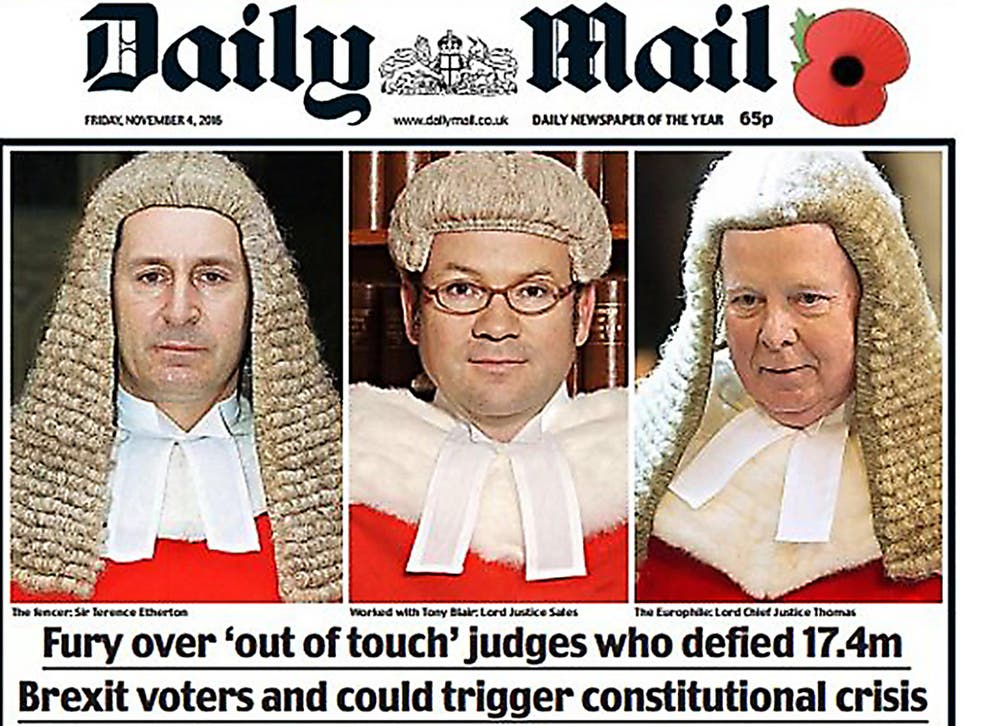The Daily Mail front page prompted widespread outrage