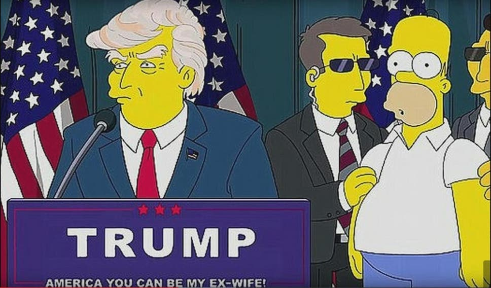 11 times the simpsons accurately predicted the future the independent an image from a short animation released after donald trump announced he would be running for publicscrutiny Images