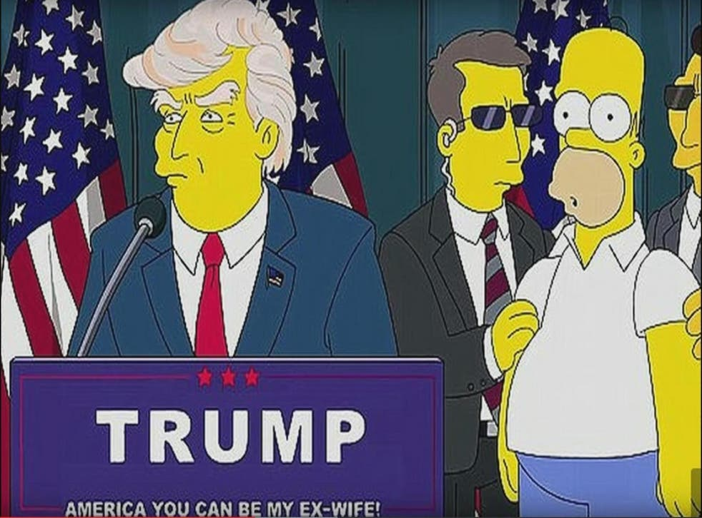 An image from a short animation released after Donald Trump announced he would be running for president