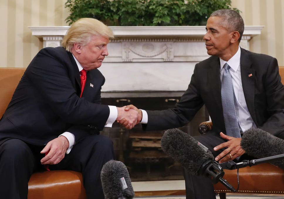When donald met barack the most awkward photos the independent there is little love lost between the two m4hsunfo