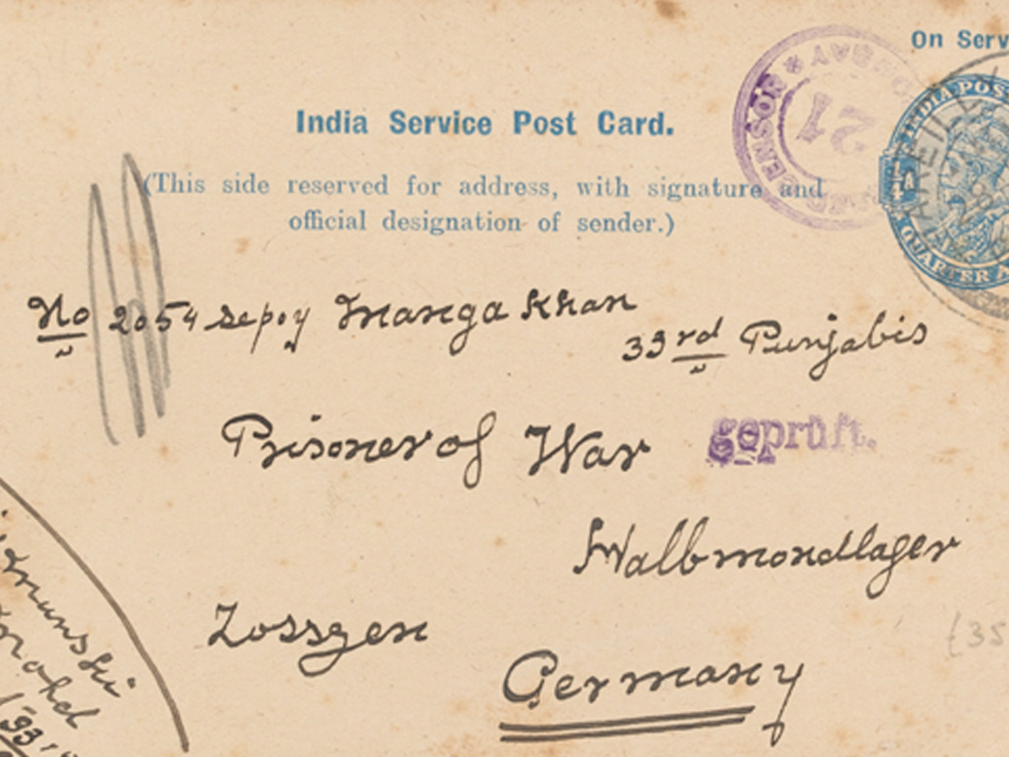 Armistice Day: Letters written by Muslim soldiers during WW1 disclosed