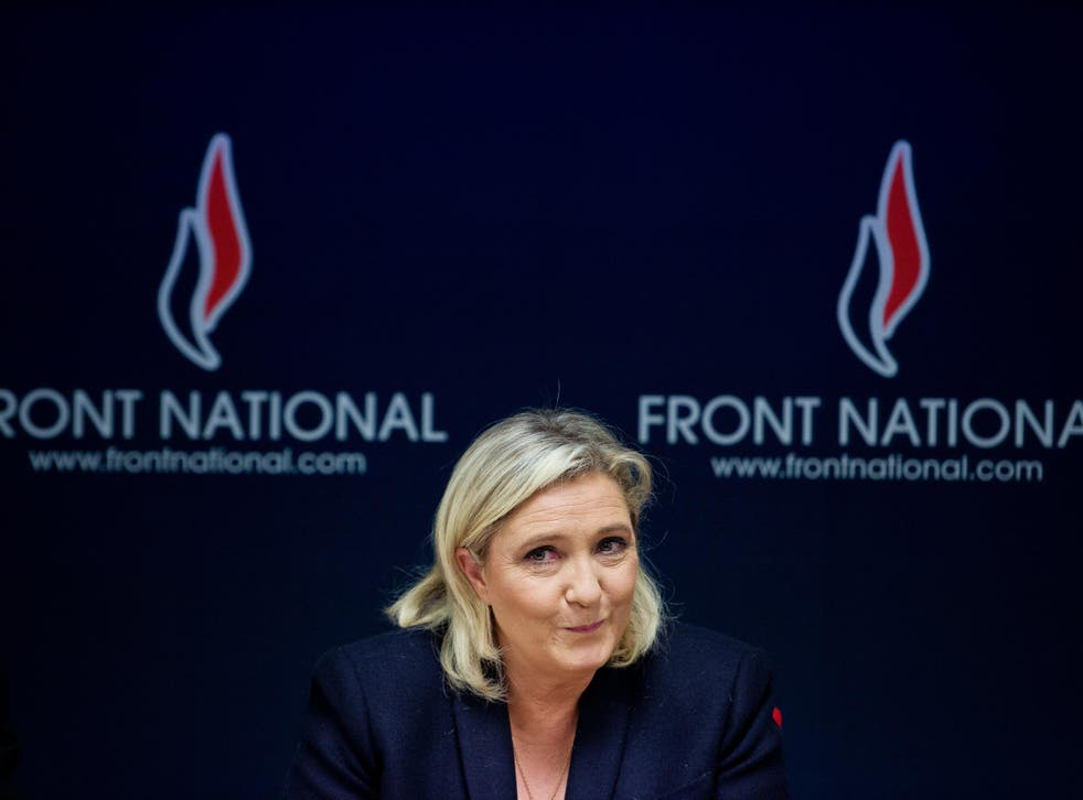 Marine Le Pen, leader of the Front National party in France
