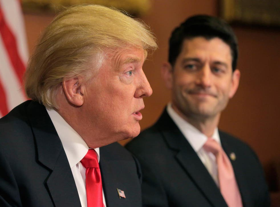 Donald Trump and Paul Ryan, the current Speaker of the House of Representatives
