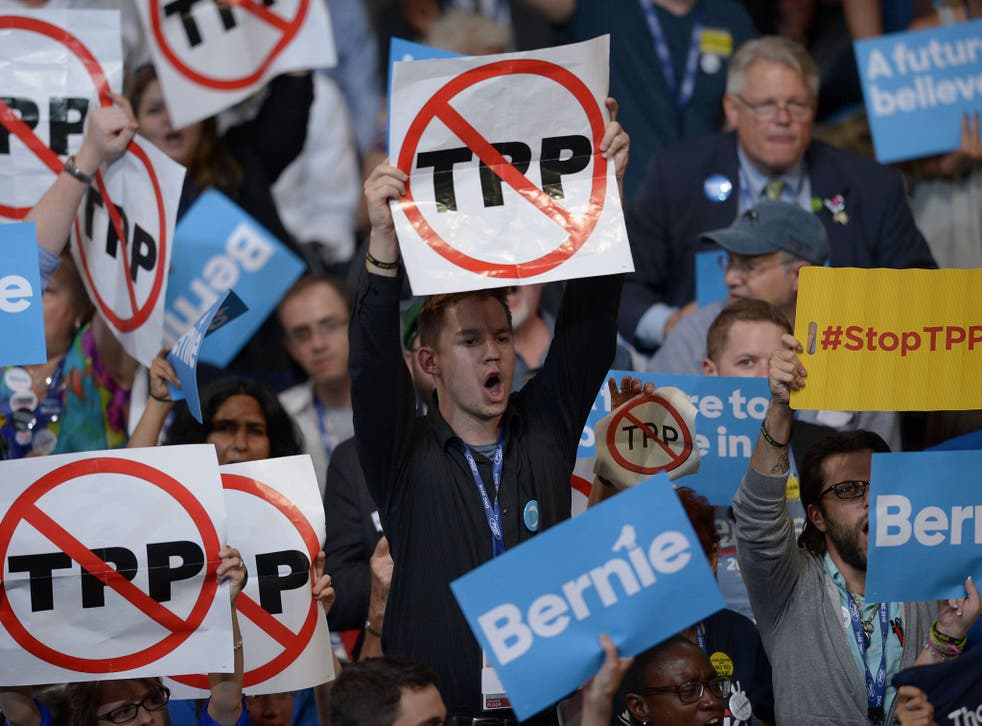 Supporters of both Donald Trump and Bernie Sanders were against the trade deal