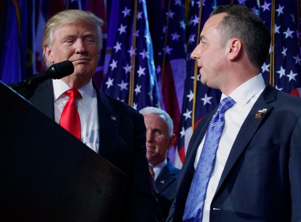 Donald Trump with Reince Priebus