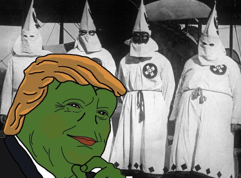 Is there really a difference between 'alt-right' and white supremacy? No. <em>Imgur/Archival/Getty</em>