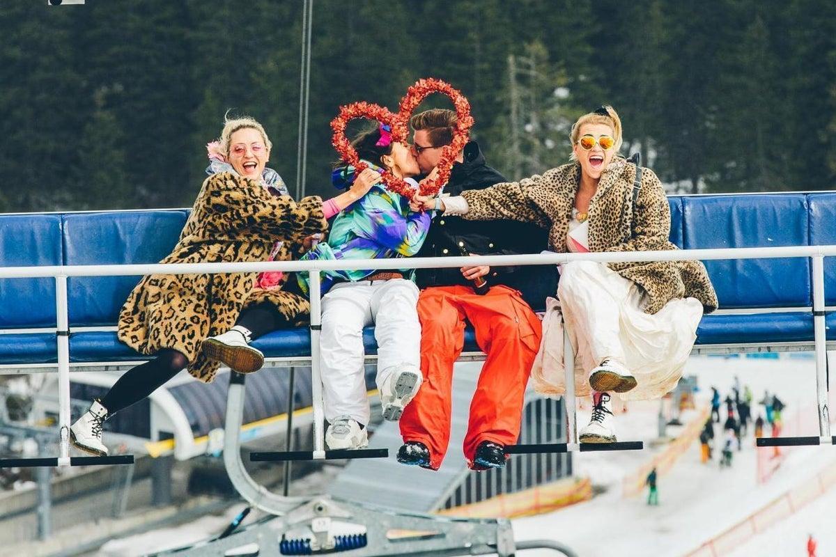 speed dating ski lift