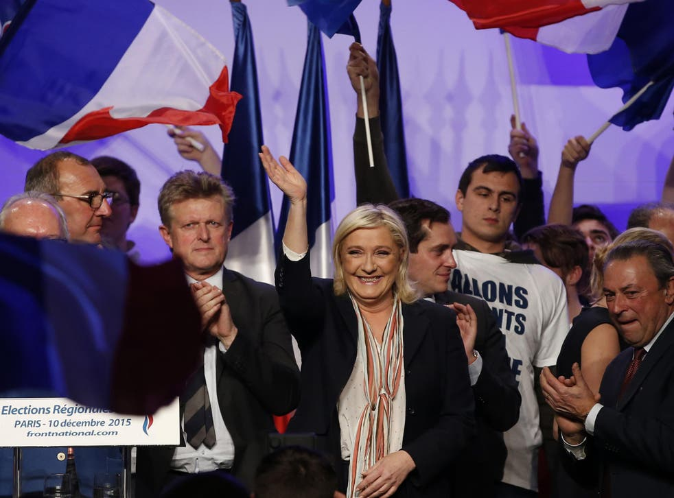 Marine Le Pen, leader of France's Front National, at a rally last year