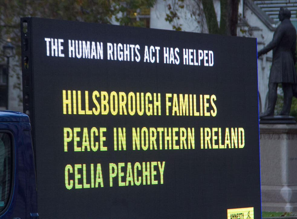 An advertisement run by Amnesty International to save the Human Rights Act, 15 November, 2016