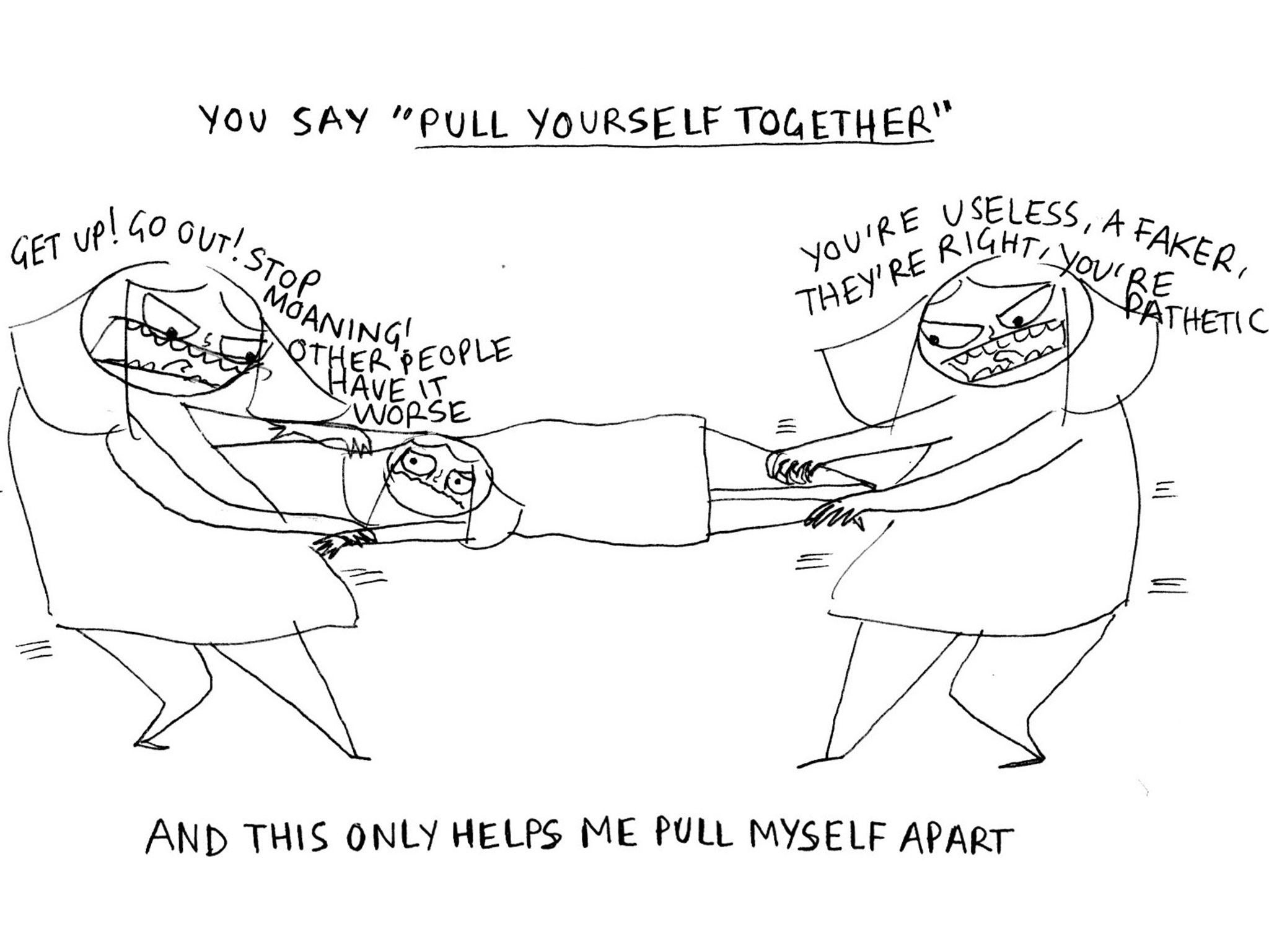 An illustrator's brutally honest and witty take on living with mental illness