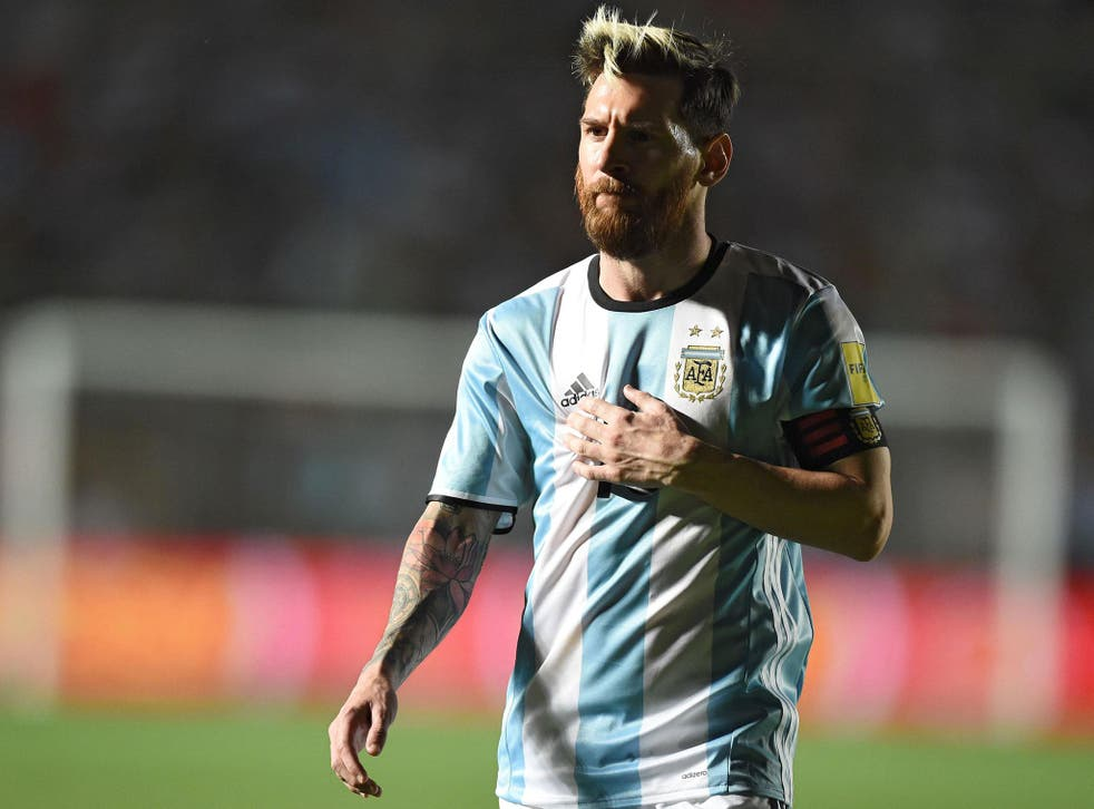 Messi was approached by desperate workers before his side's 3-0 defeat to Brazil