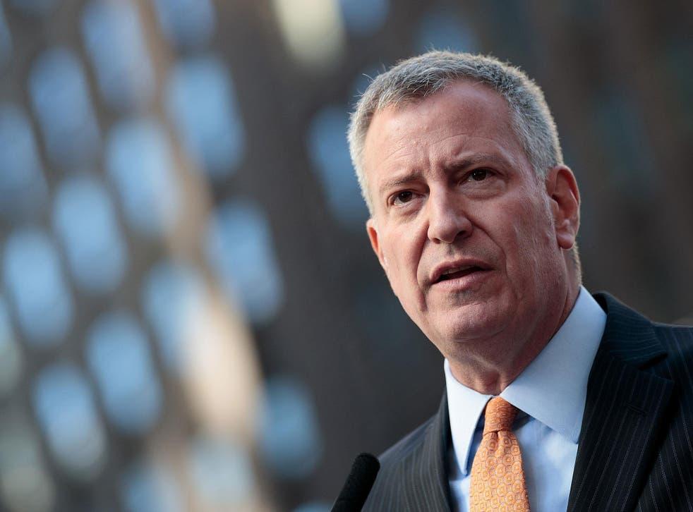 Bill de Blasio, the Democrat mayor of New York City, said withdrawal would be 'hugely destructive'