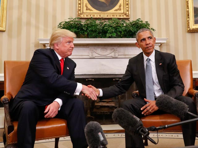 Obama has radically shifted his tone when speaking about Trump, a man he once described as 'not fit' to be president