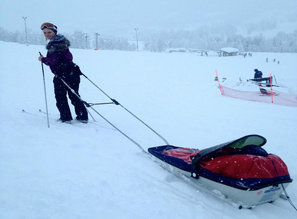 Nordic skiing with a child in tow is no easy feat