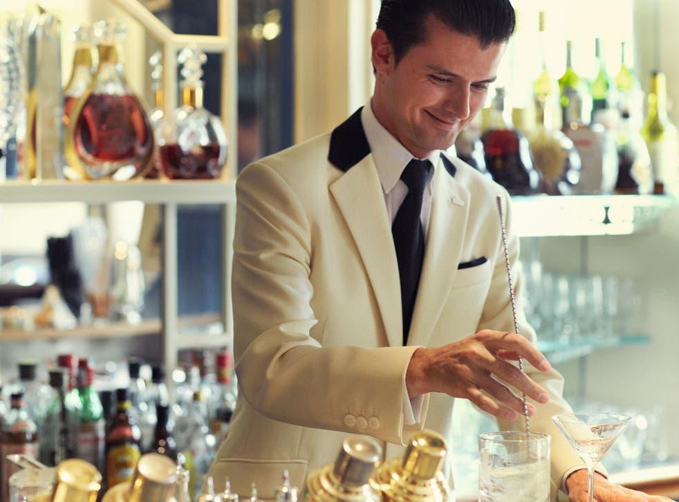 Erik Lorincz, the head bartender of The American Bar