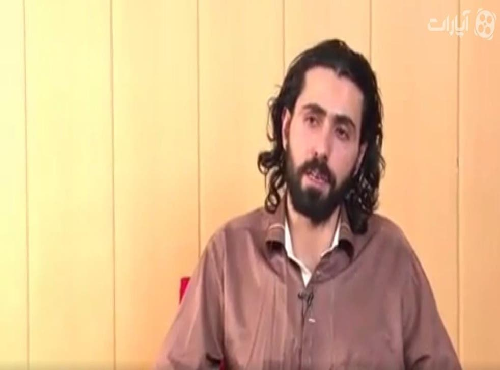 Screenshot from one of the 'confession videos' produced by Iranian media in the wake of the executions of 25 Sunni men on terrorism offences