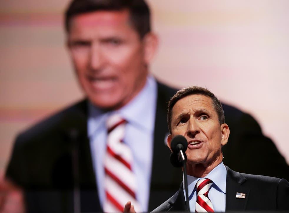 Ret Lt. Gen. Michael Flynn at the Republican Convention