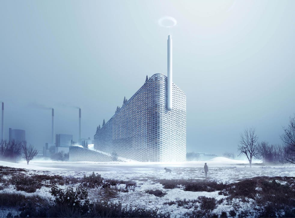 The new Copenhagen power plant will have ski runs on its roof