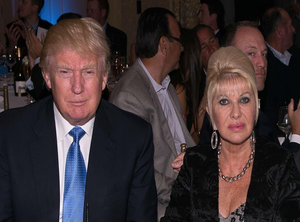 Mr Trump and Ivana Trump divorced in 1990