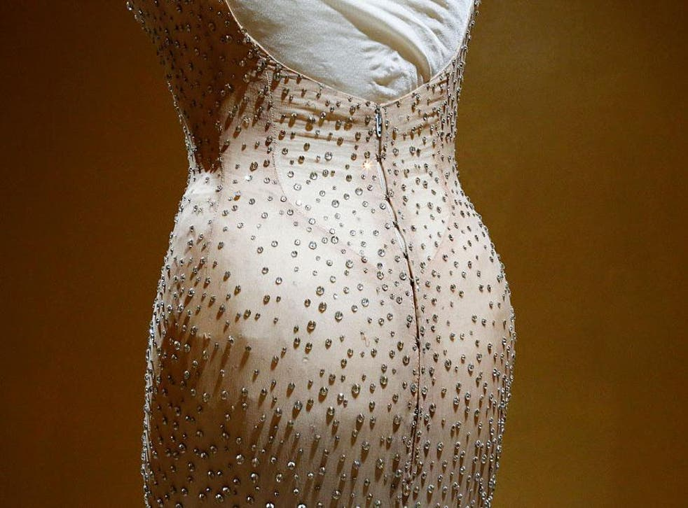 The custom-made Jean Louis gown featured 2,500 hand-stitched crystals