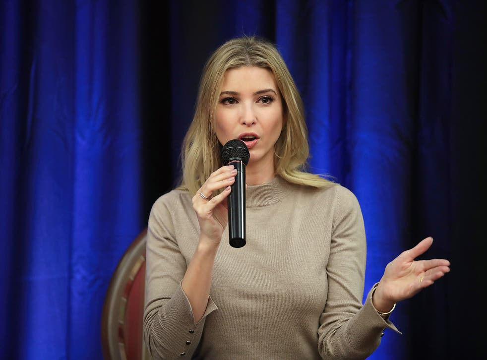Ivanka Trump speaking in Wisconsin on 20 October, shortly after the old video was released