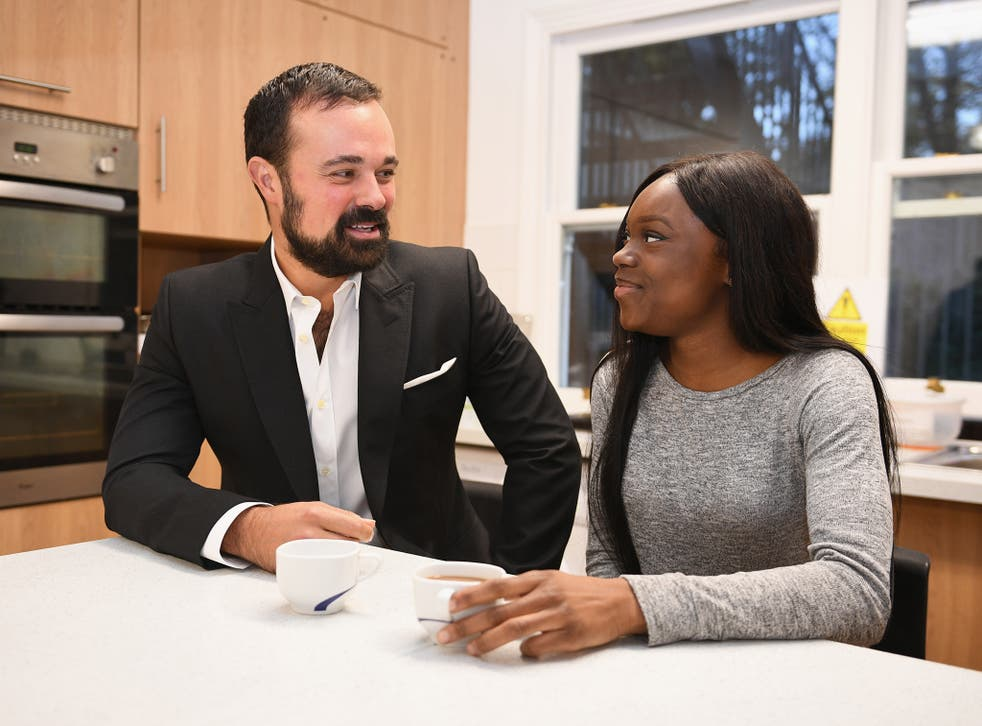 Evgeny Lebedev meets Kumba Kpakima in her room at a Centrepoint hostel in south London