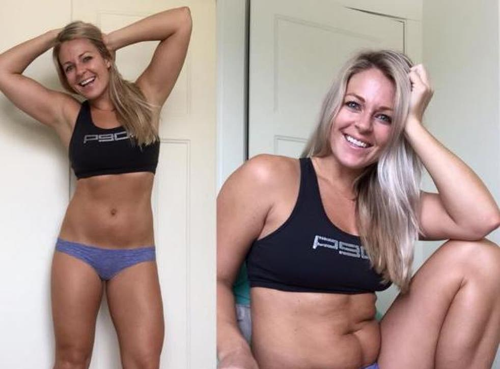 31-year-old Ashlie Mostad regularly posts about nutrition, working out and healthy living