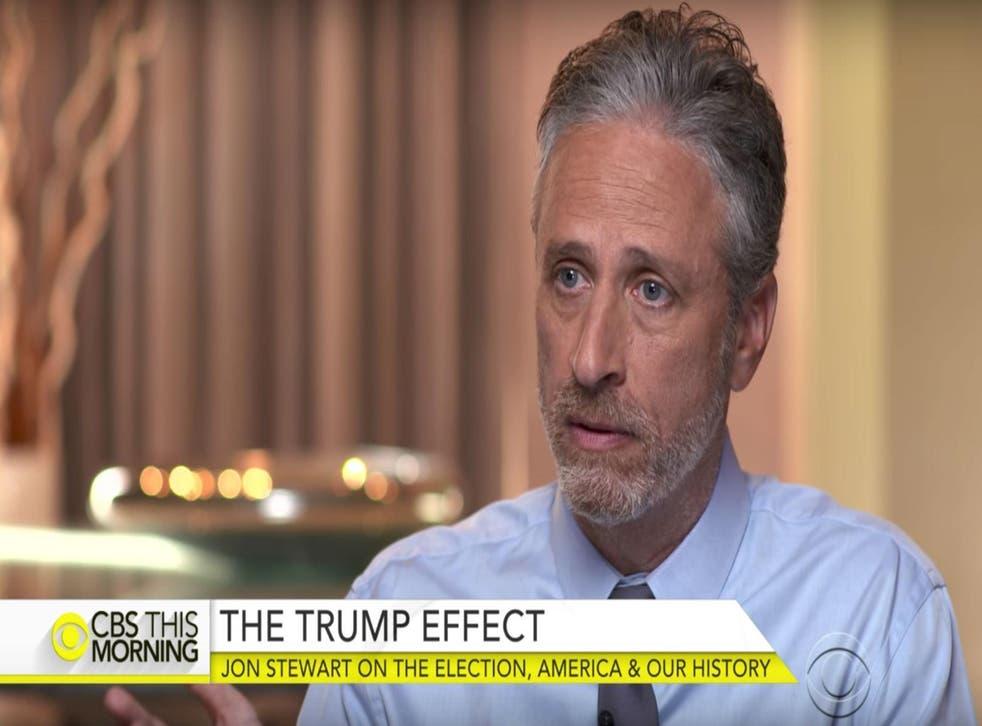 Speaking to CBS, Stewart warned against characterising all Trump voters as racists