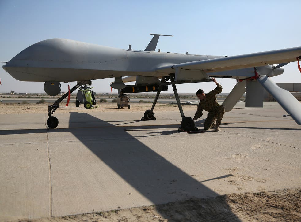 Drones and bombers were used to raze the camp to the ground