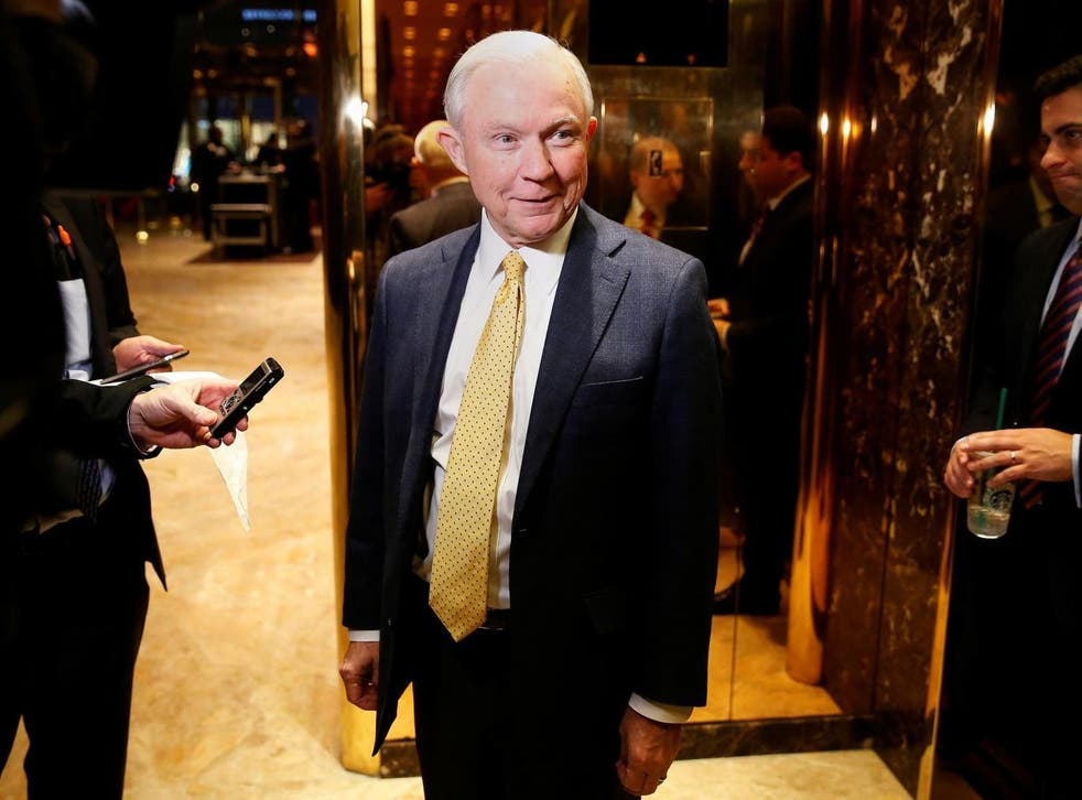 Mr Sessions became one of the first members of Congress to endorse Mr Trump in February