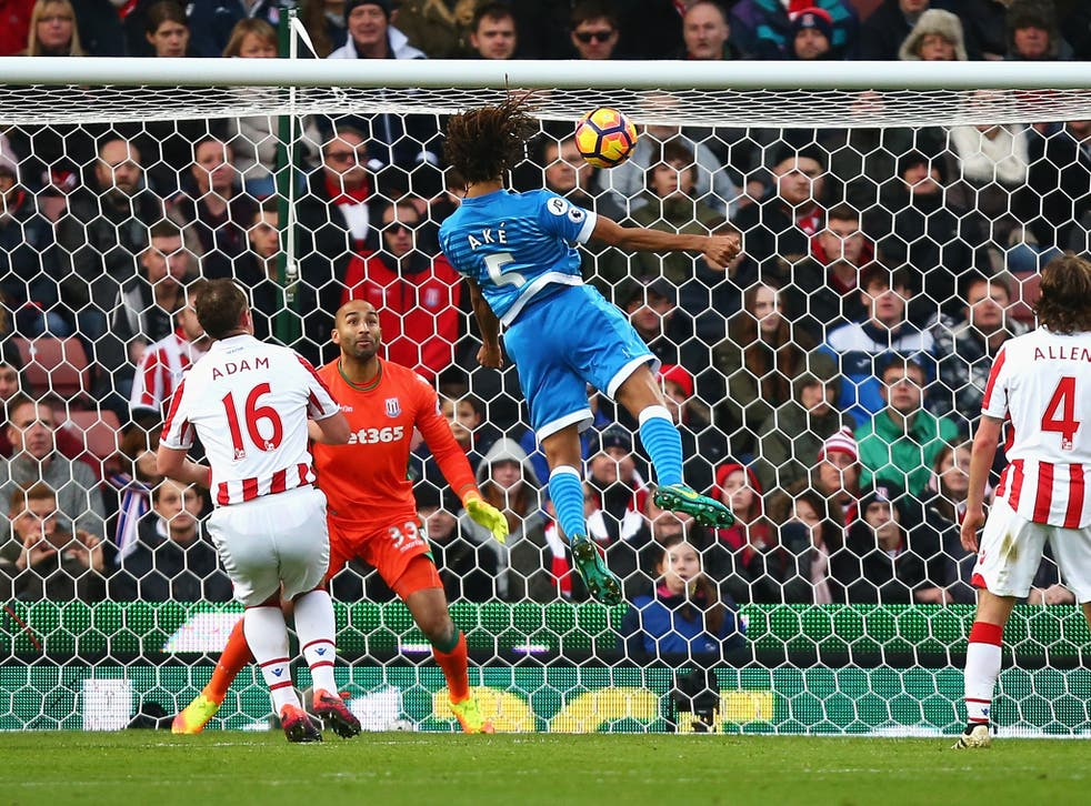 Ake rose to head Bournemouth in front in the first half