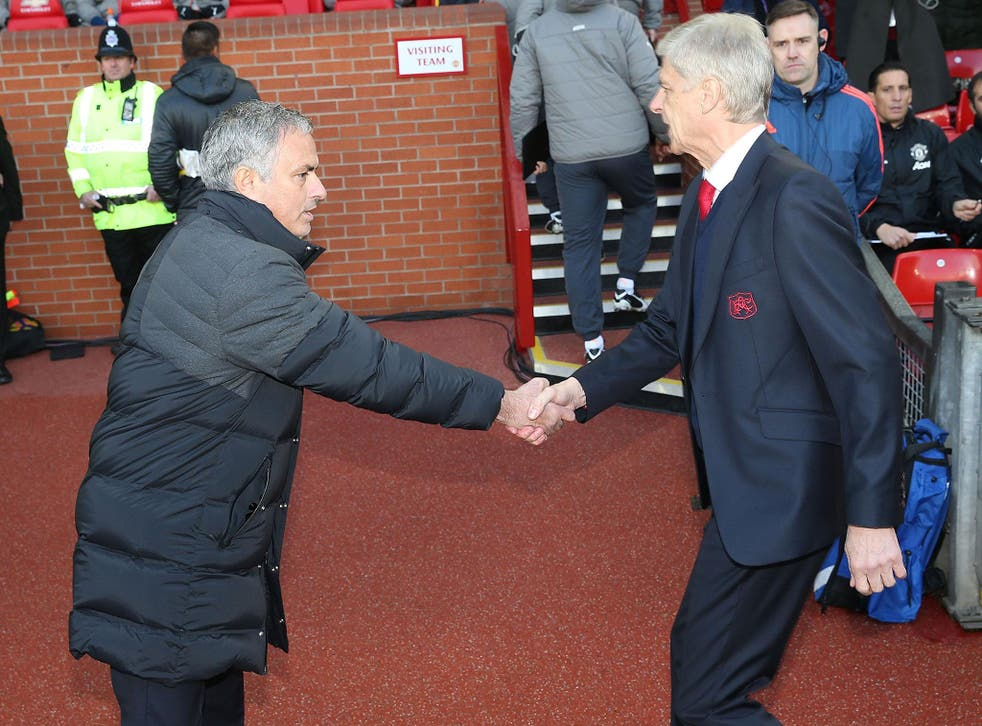 Mourinho extended his unbeaten run over Wenger in the Premier League to 14 games