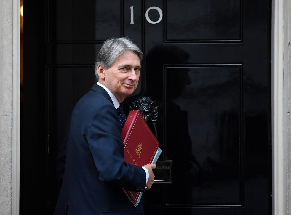 Chancellor Philip Hammond arriving at 10 Downing Street in London