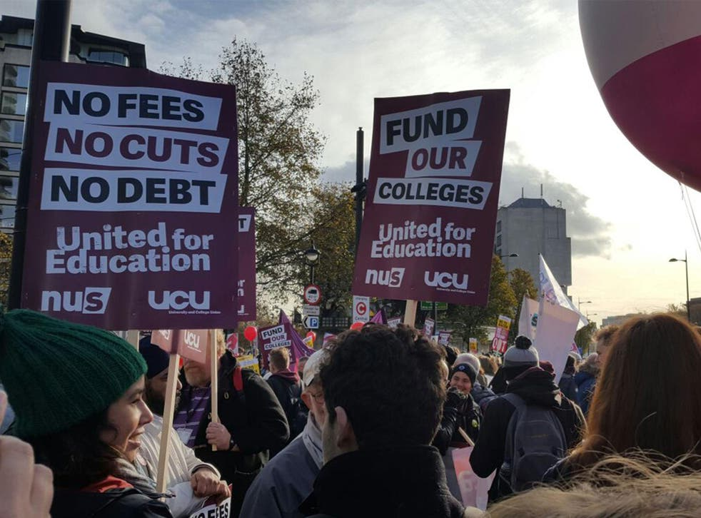 Some 15,000 students, academics, lecturers and researchers join demonstrations against cuts, tuition fee rises and 'staff exploitation'