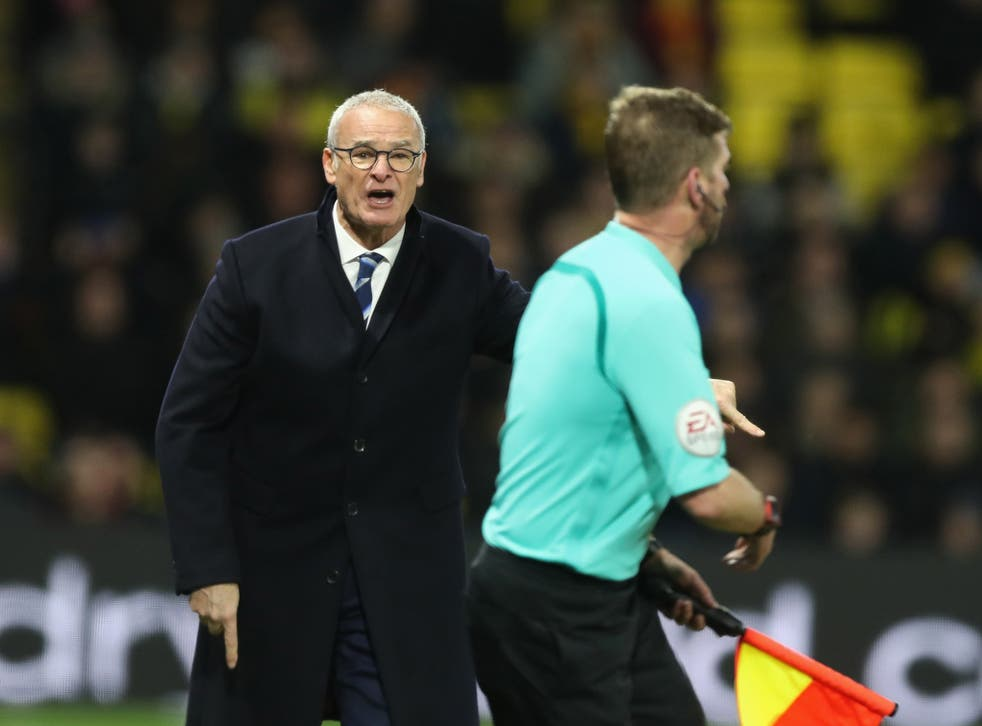Ranieri cut a frustrated figure on the Vicarage Road touchline