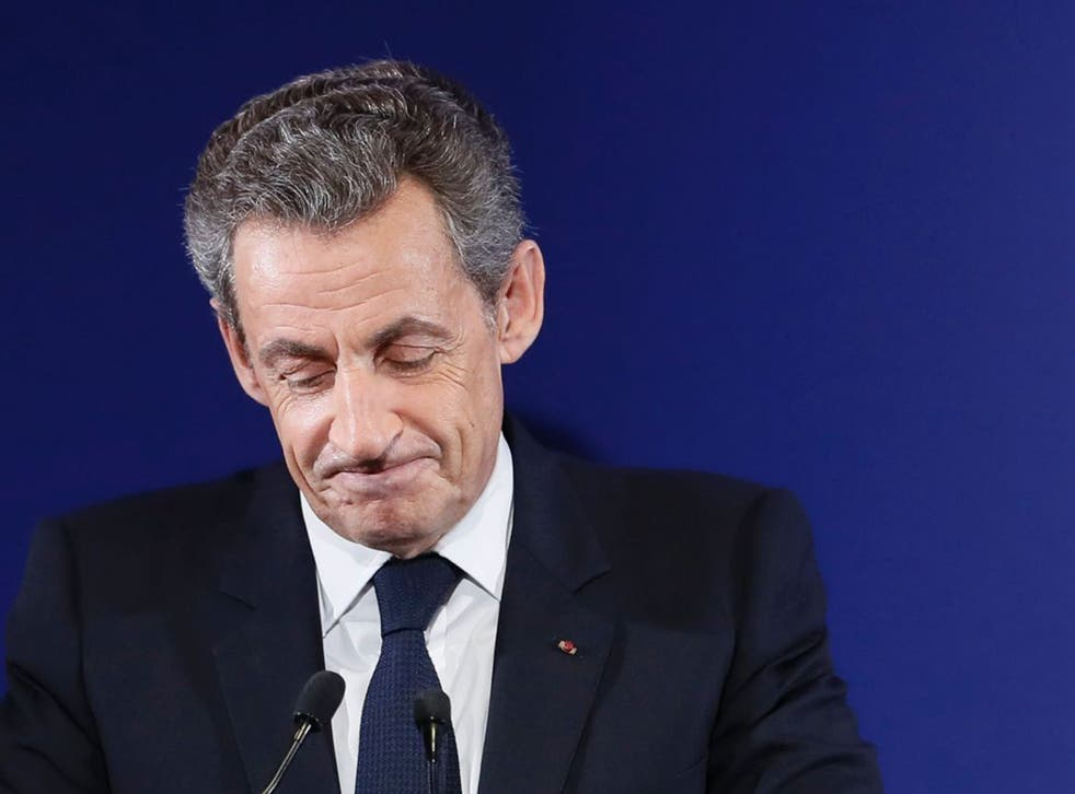 Nicolas Sarkozy addressed media and supporters as he conceded defeat and endorsed Francois Fillon