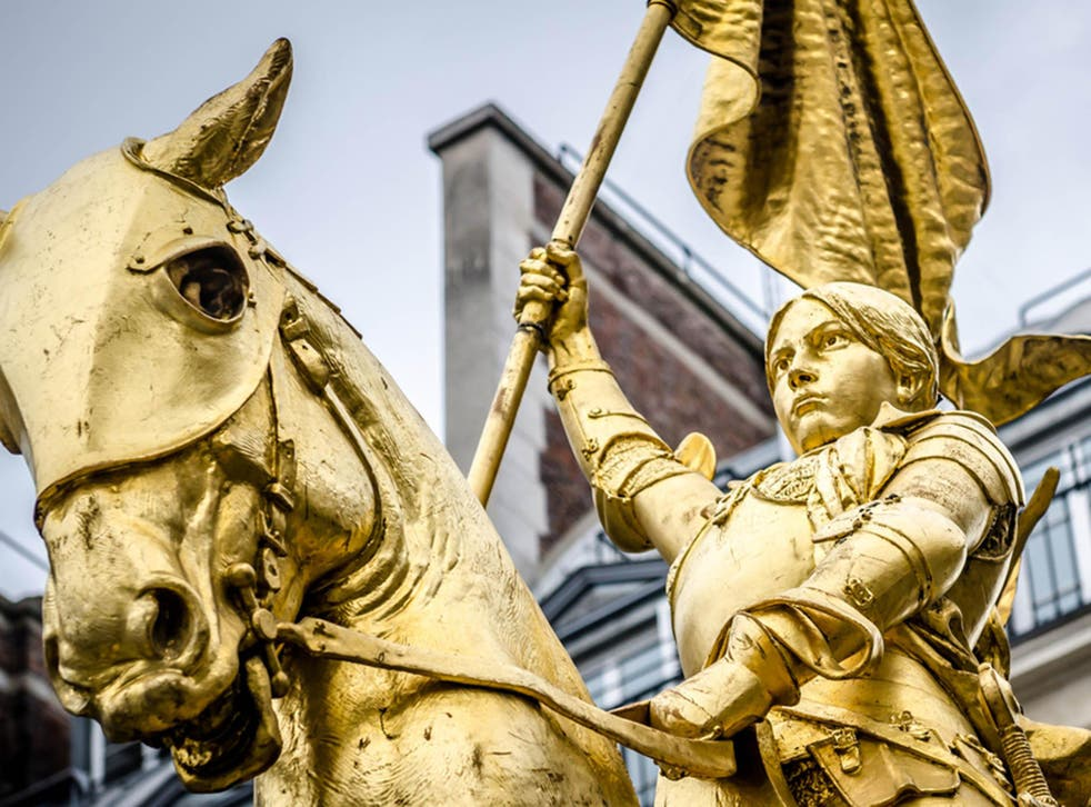 Joan of Arc led an army to victory dressed as a soldier during the Hundred Years War, when women were not supposed to fight