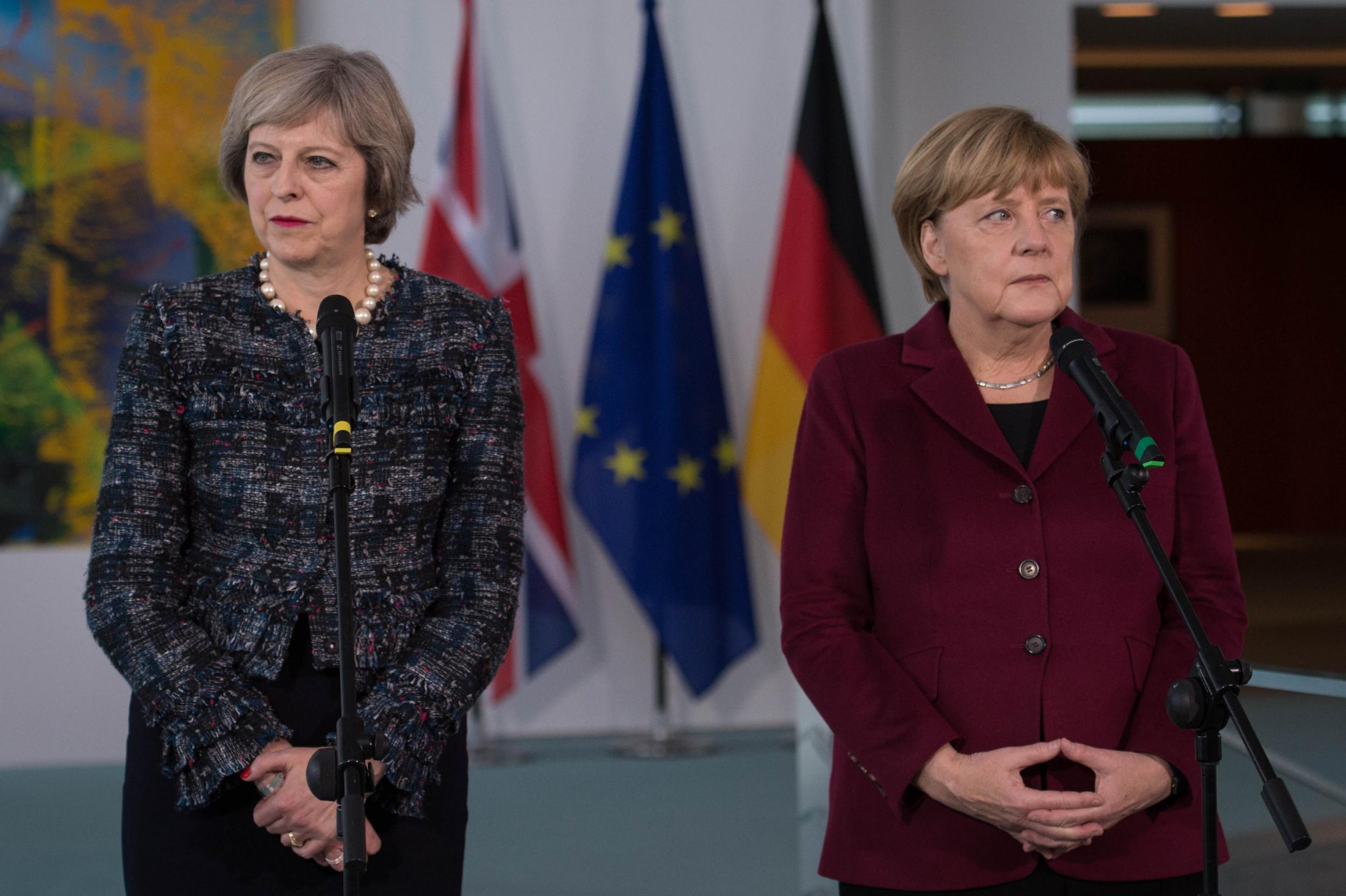 Brexit: Theresa May's call for deal on EU migrant rights 'blocked by Angela Merkel'