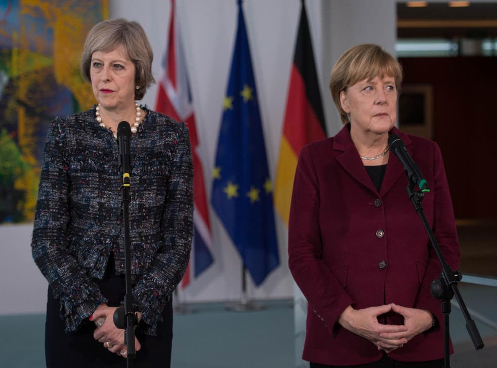 The Prime Minister and the German Chancellor at a meeting in Berlin earlier this month