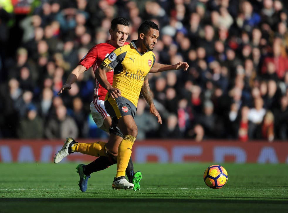 Theo Walcott looked quiet at Old Trafford but had the courage to admit he was at fault for the first goal